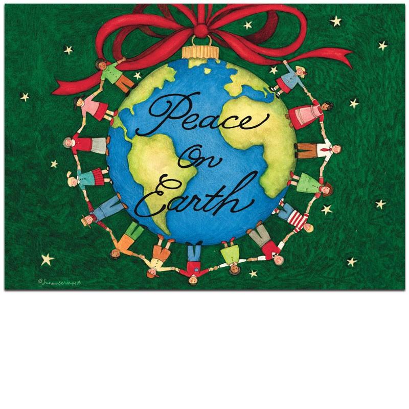 Peace On Earth Christmas Christmas card